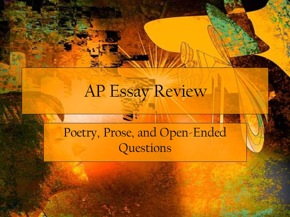 IV. Poetry and Prose Prompts
