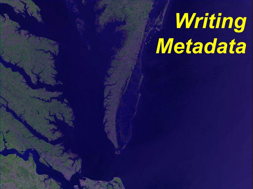 Writing Metadata