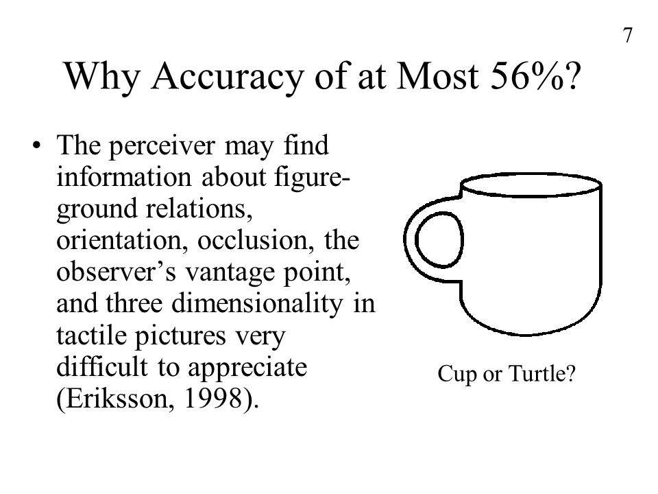 7 Why Accuracy of at Most 56%.