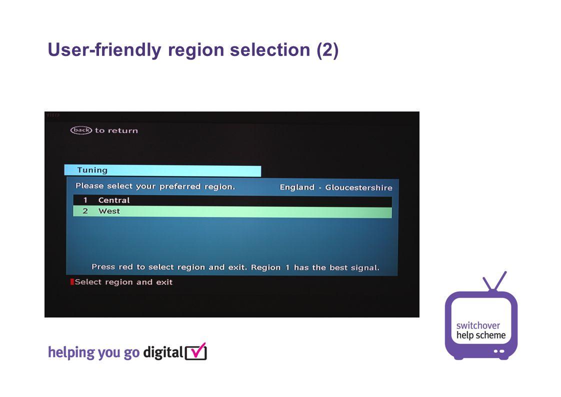 User-friendly region selection (2)
