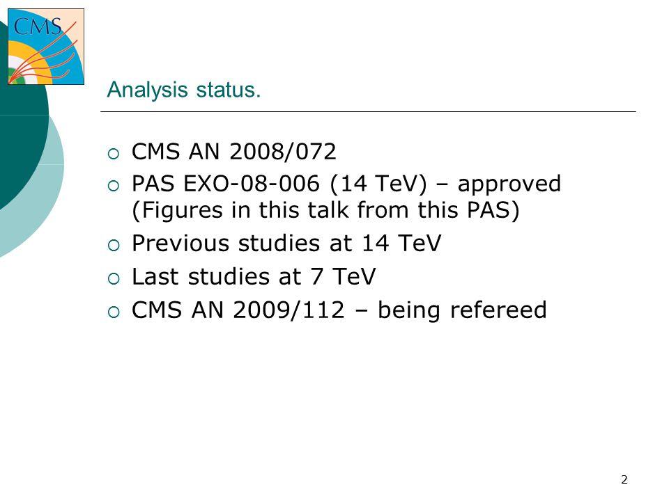 2 Analysis status.