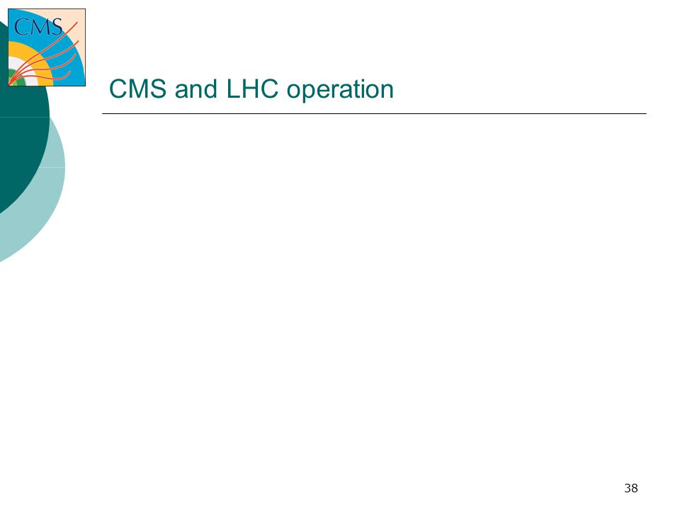 38 CMS and LHC operation