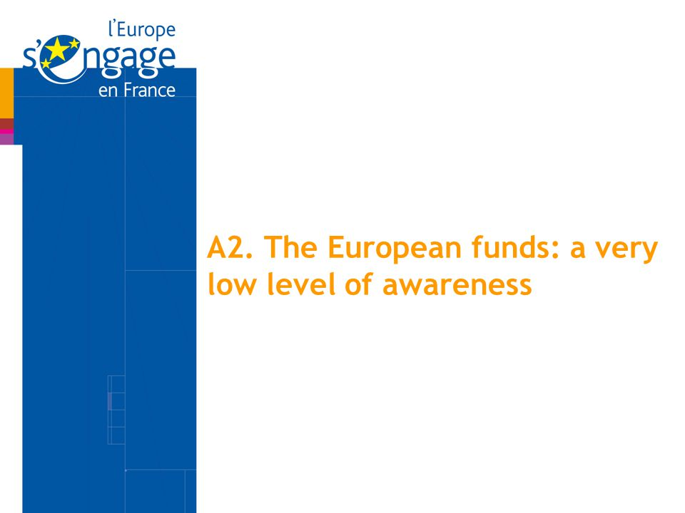 A2. The European funds: a very low level of awareness