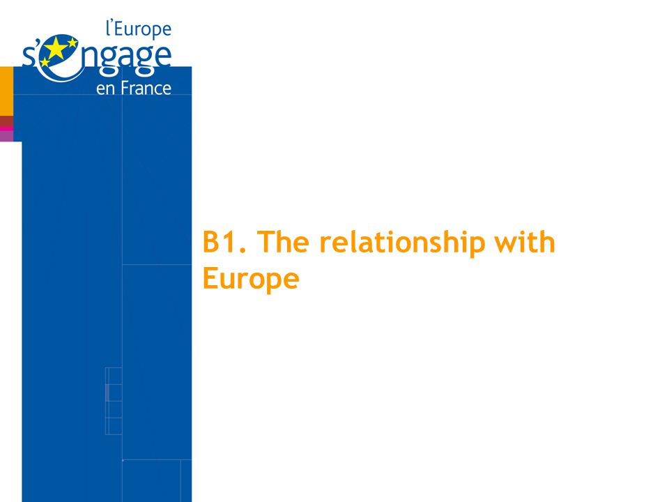 B1. The relationship with Europe