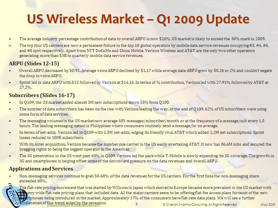 © Chetan Sharma Consulting, All Rights Reserved May 2009 16 http://www.chetansharma.com US Wireless Carriers: Net Adds Share