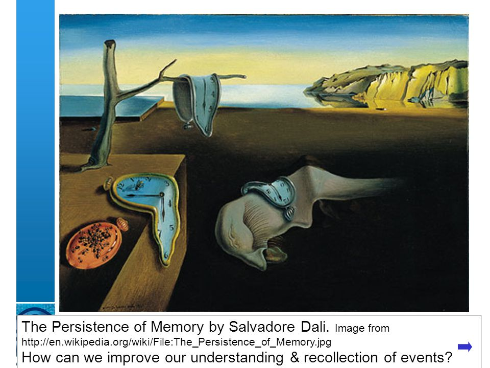 A centre of expertise in digital information managementwww.ukoln.ac.uk The Persistence of Memory by Salvadore Dali.