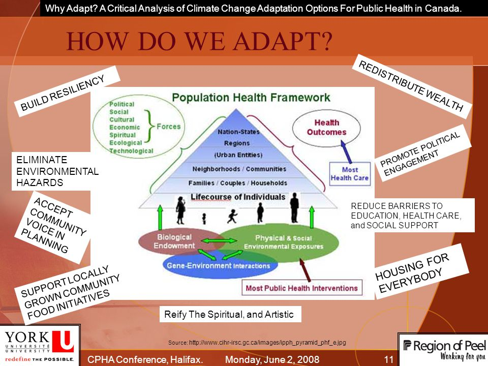 Why Adapt. A Critical Analysis of Climate Change Adaptation Options For Public Health in Canada.