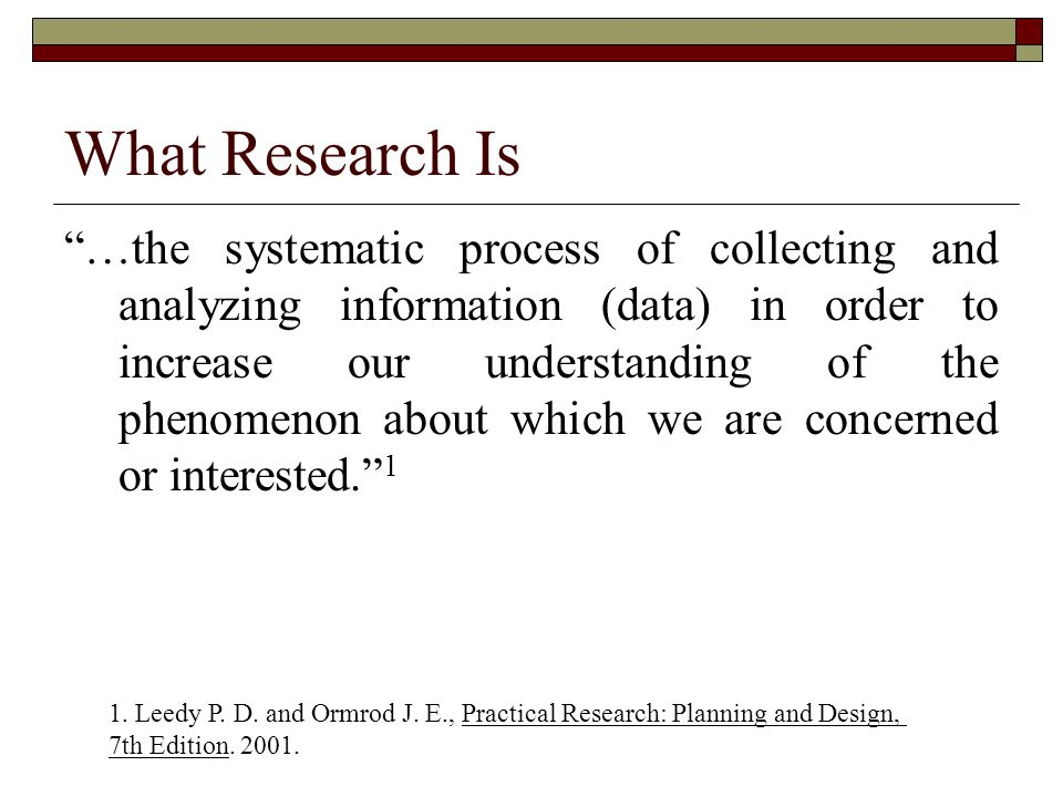 Sources of Research Problems  Observation. Literature reviews.