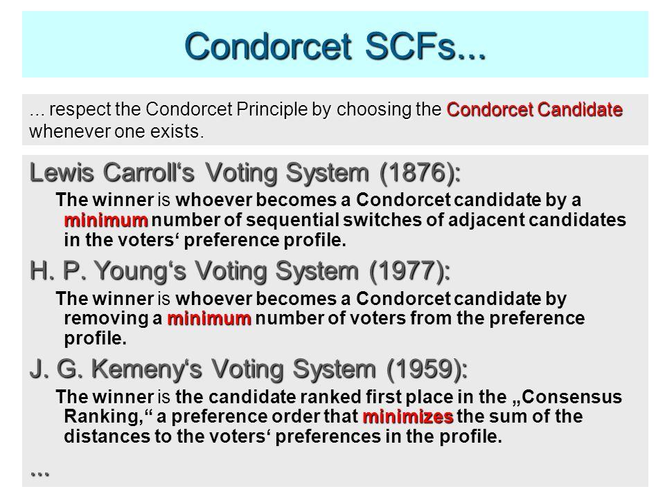 Condorcet SCFs......