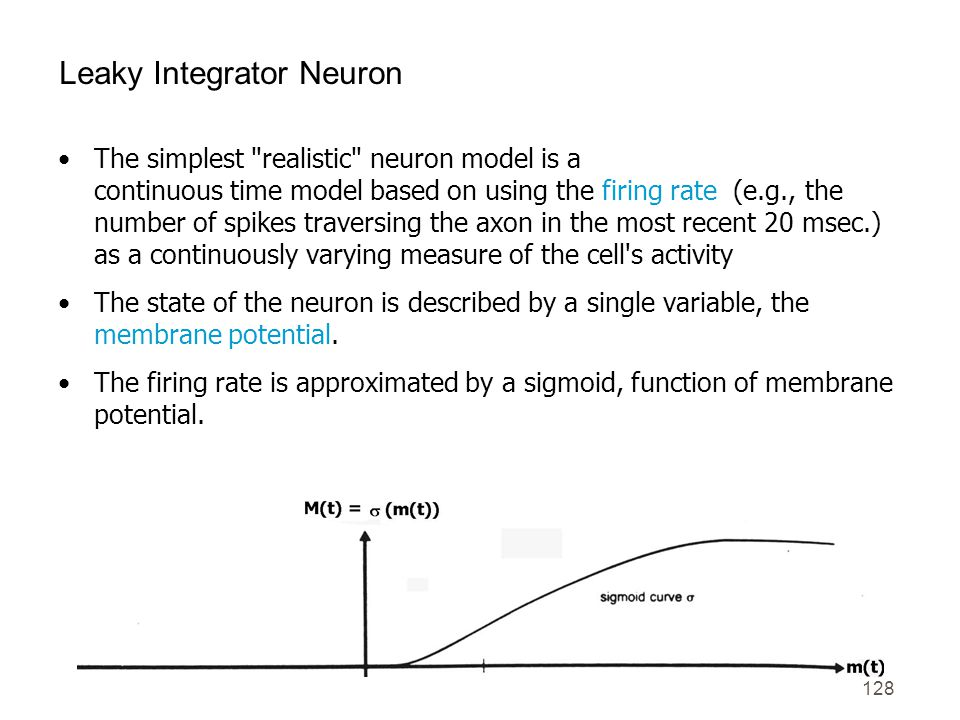 128 Leaky Integrator Neuron The simplest