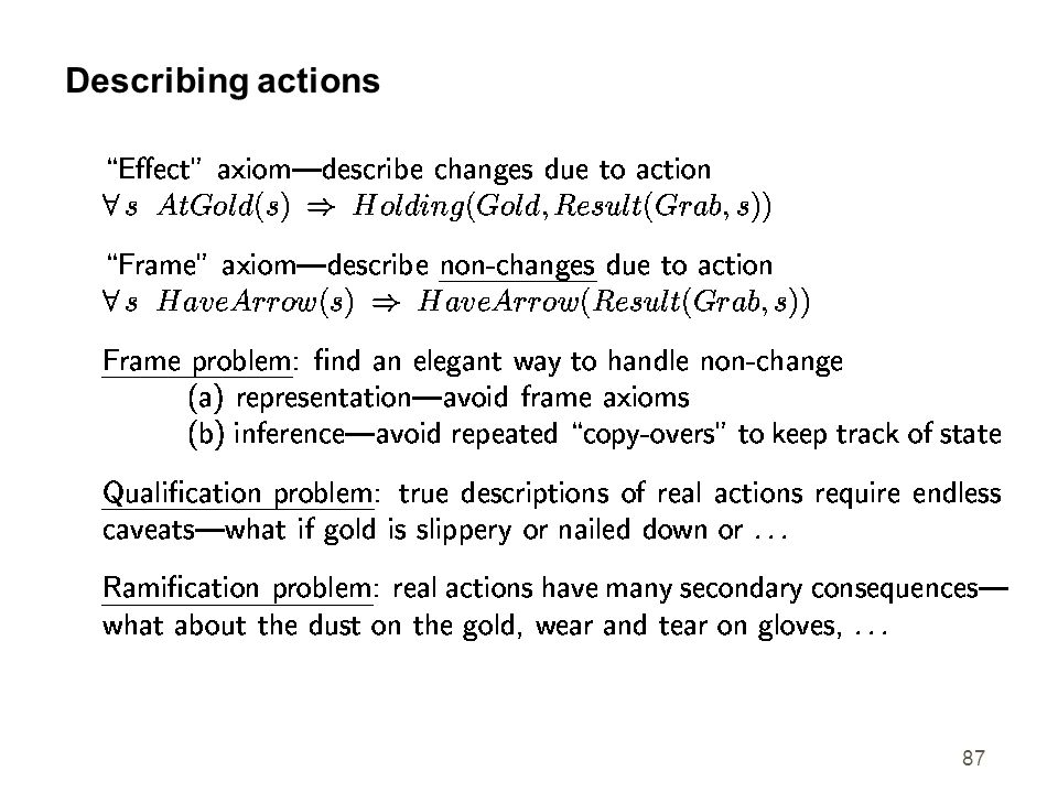 87 Describing actions