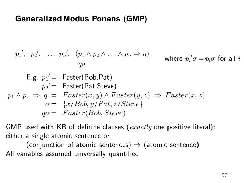 97 Generalized Modus Ponens (GMP)
