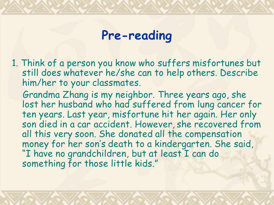 Pre-reading 1.