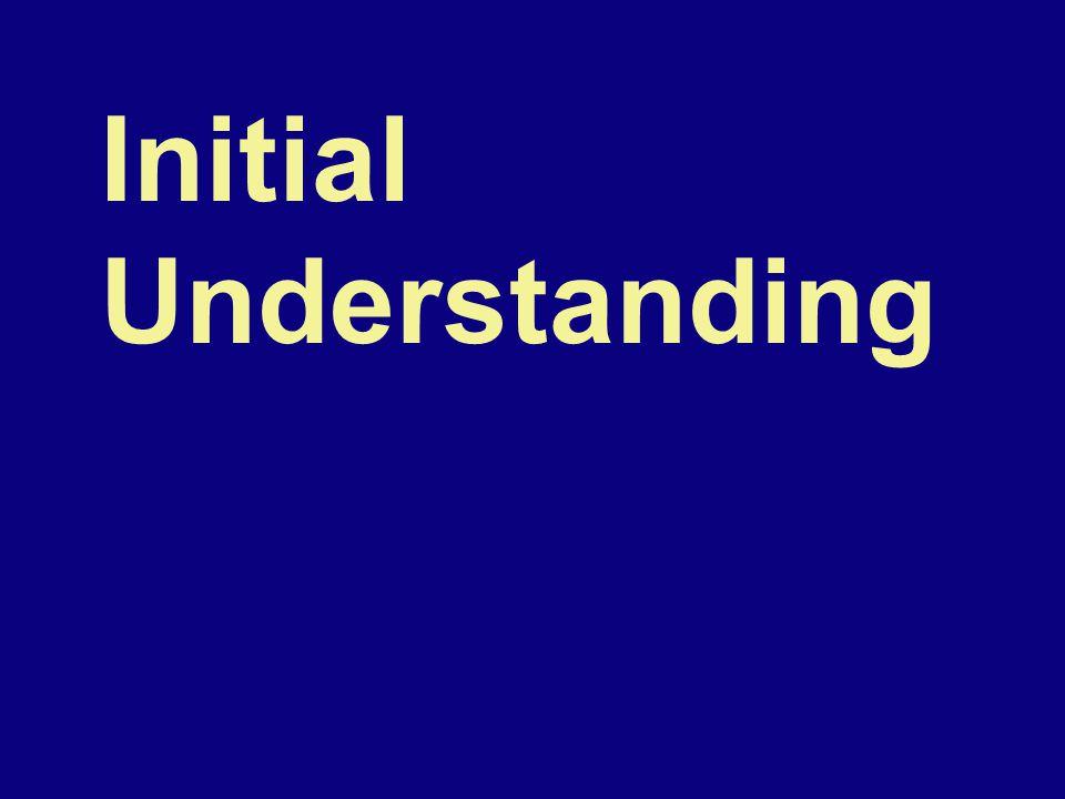 Initial Understanding