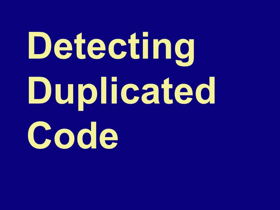 Detecting Duplicated Code