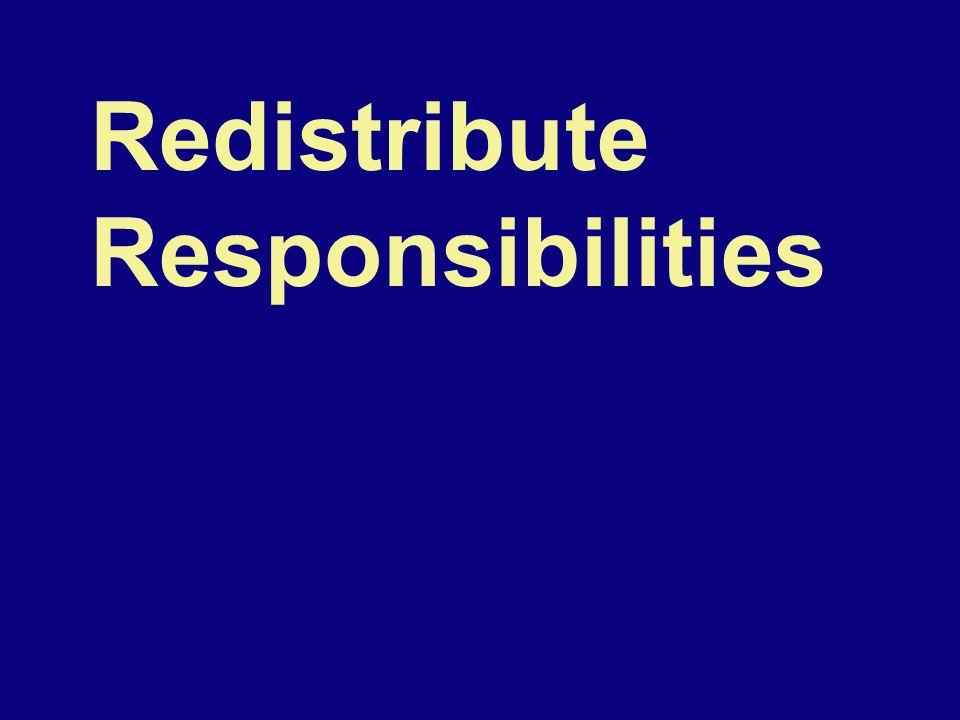 Redistribute Responsibilities