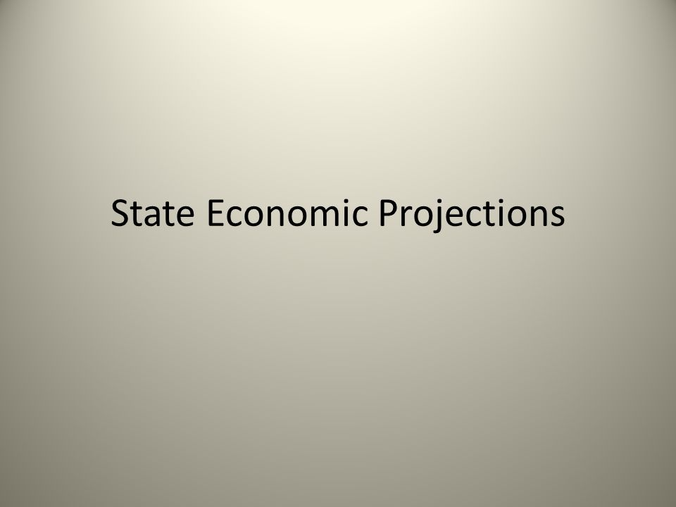 State Economic Projections