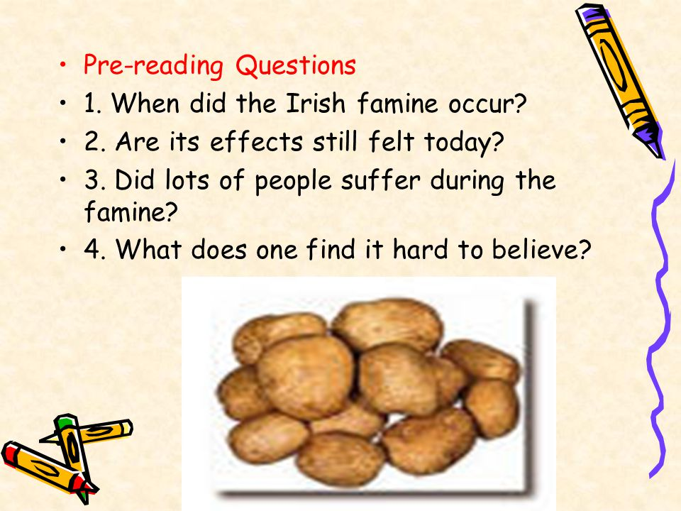 Reading 2 The Irish Famine