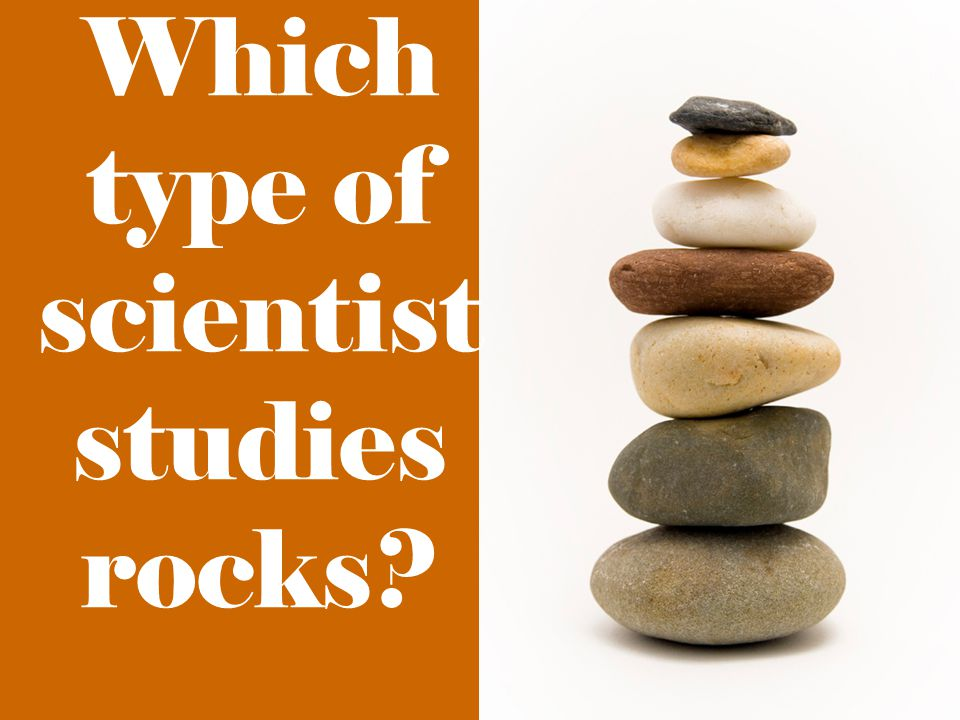 Which type of scientist studies rocks?