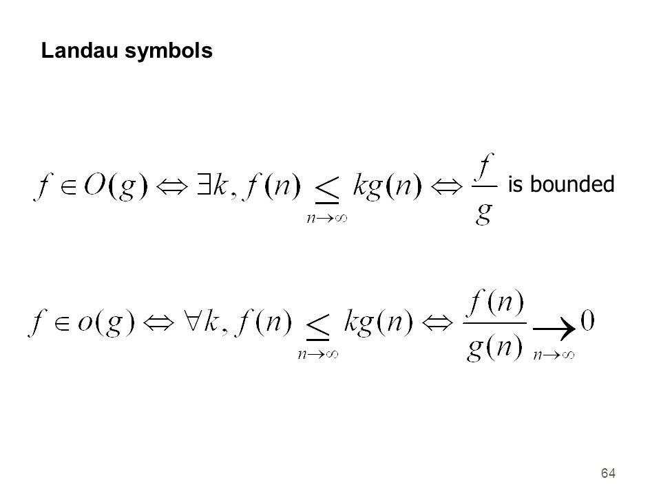 64 Landau symbols is bounded