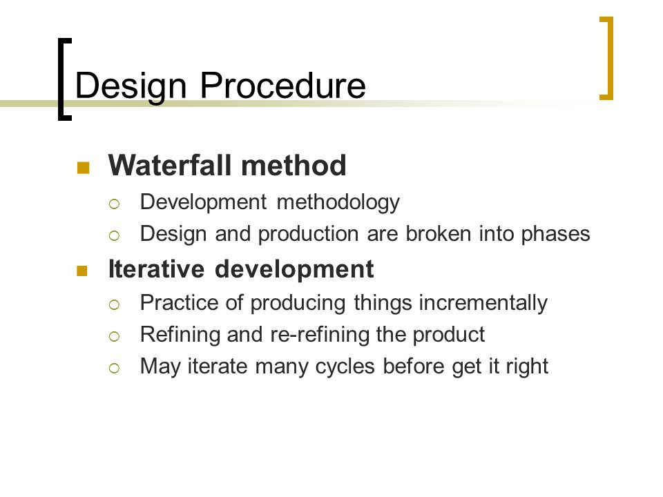 Waterfall vs. Iterative testing