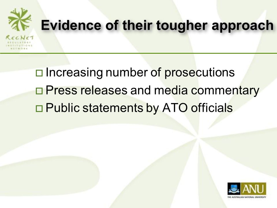 Is ATO enforcement proportional to the offence.