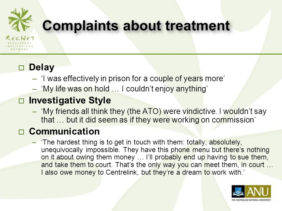 Not everyone complained… 'I tried to bullcrap him [the ATO investigator], but he didn't buy it - he was one of those old copper types - you know, dogged.