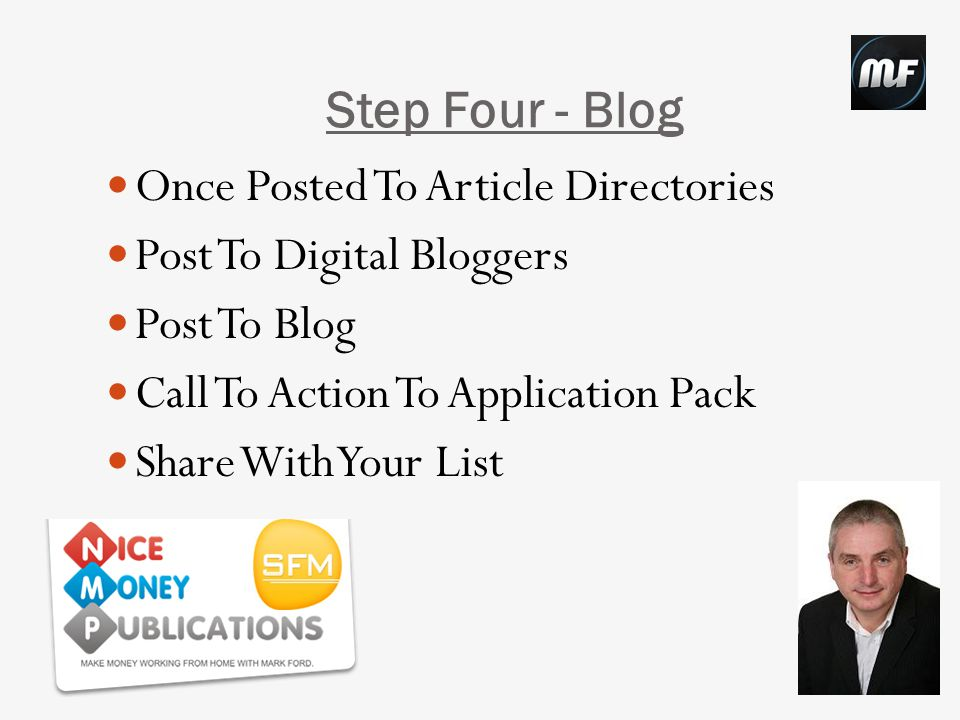Step Five - Blog Syndication Share On Social Media Accounts IMAutomator.com See Back Office Under Training Chris & Susan Beesley Videos Good For Blog Structure/Syndication