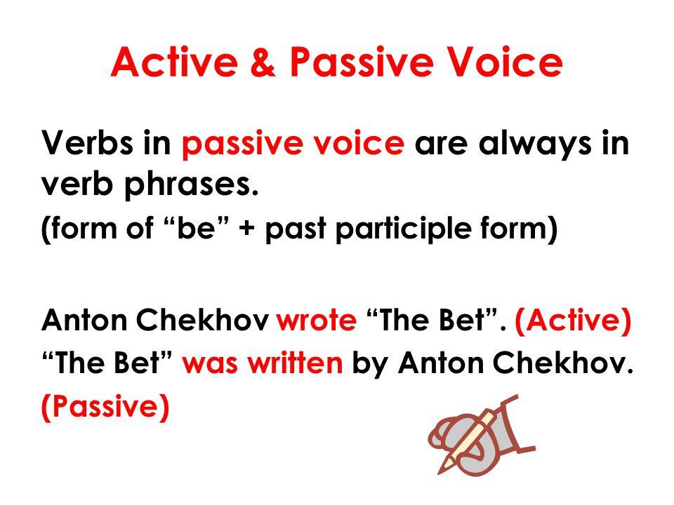 Active/Passive Voice Exercises http://a4esl.org/q/h/vm/active- passive.html http://www.quia.com/cb/205468.html