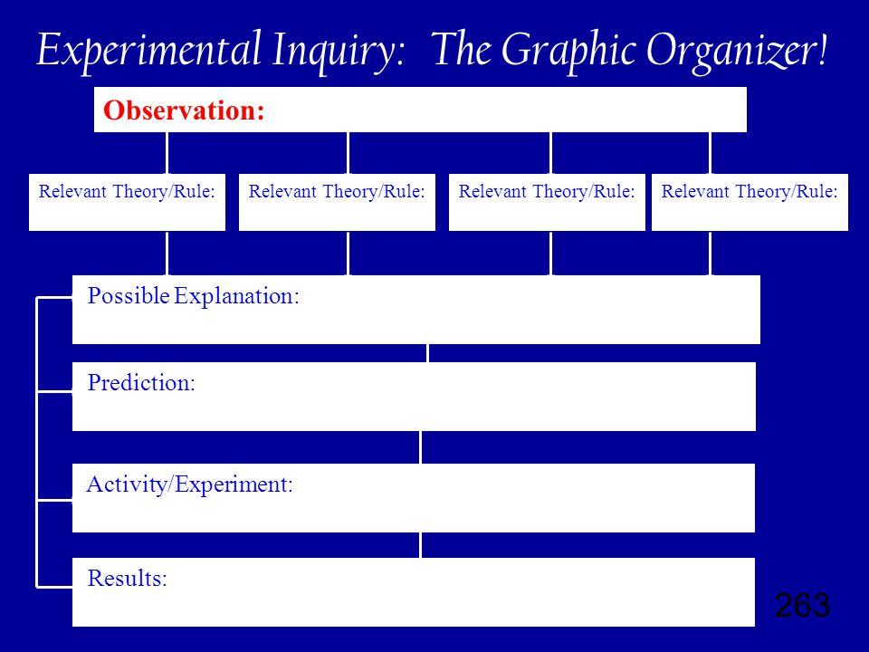 263 Experimental Inquiry: The Graphic Organizer.