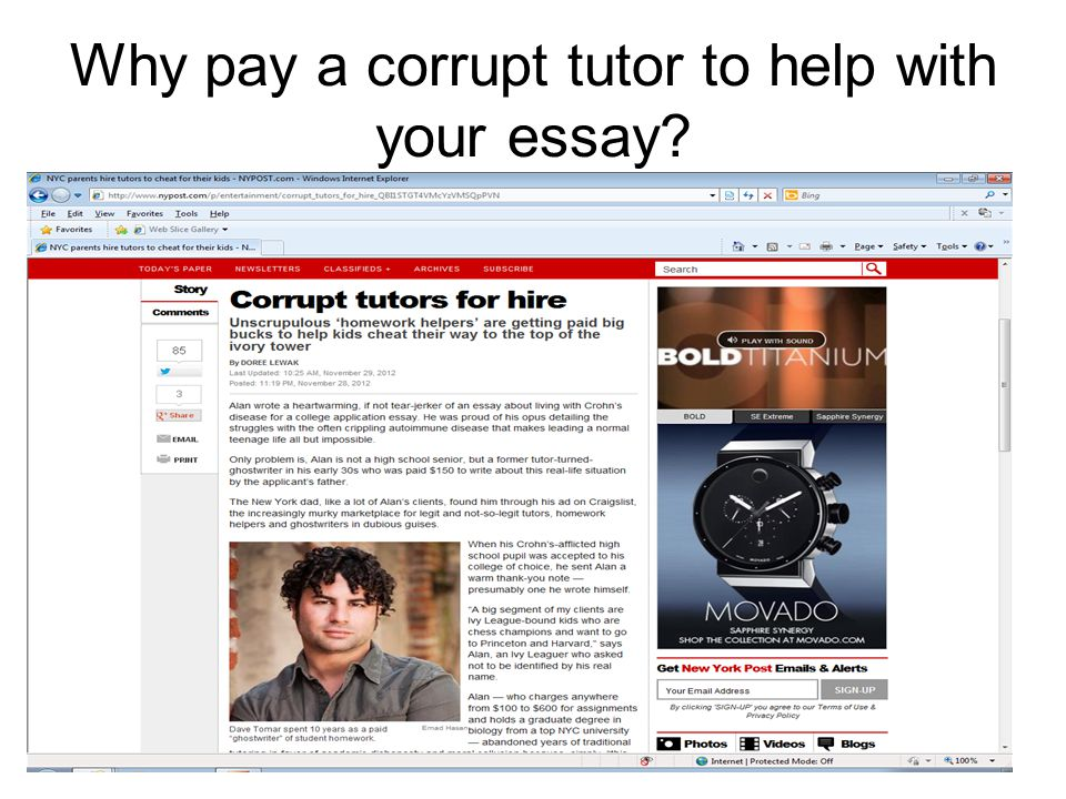 Why pay a corrupt tutor to help with your essay?