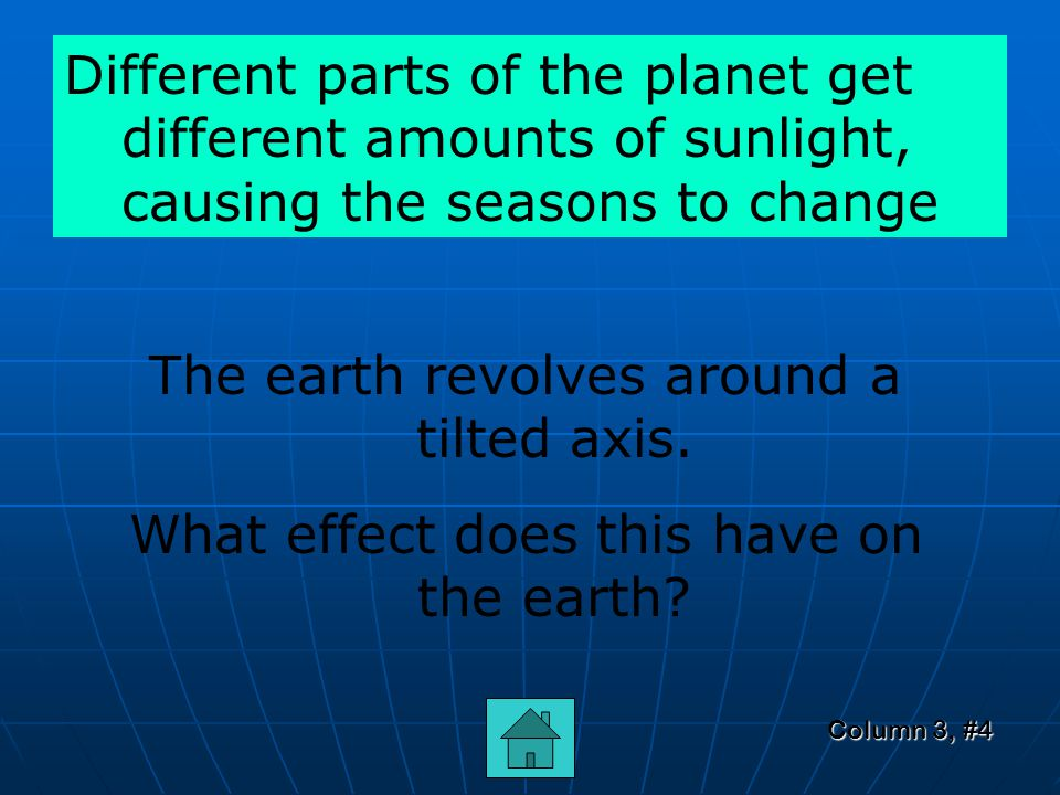 Column 3, #3 What the real or apparent movement of the earth and the sun in the Solar System.
