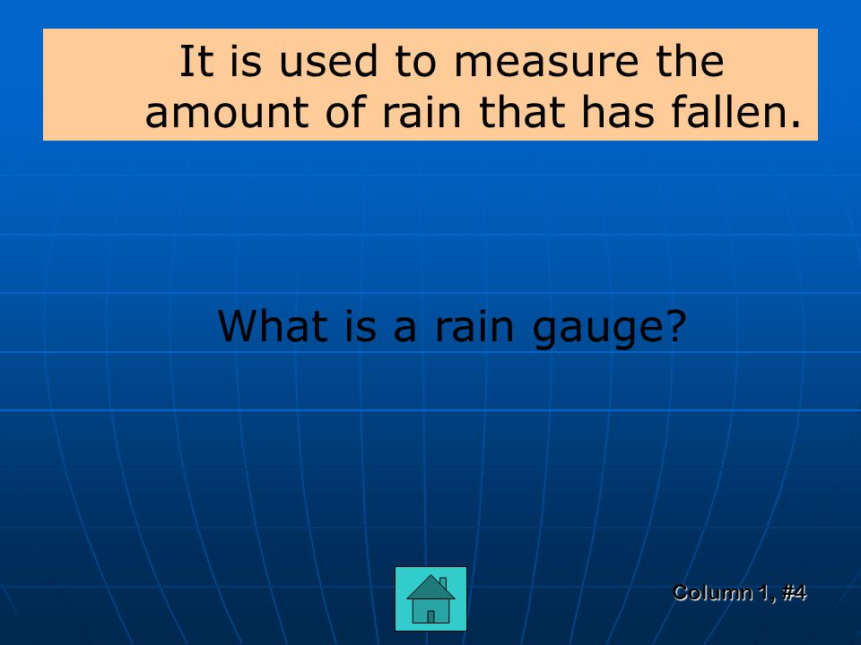 Column 1, #3 rain, sleet, snow, hail What are the different forms of precipitation