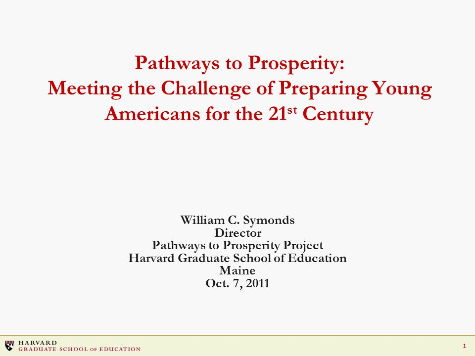 32 Multiple Pathways Key Elements: Elevate career education to world-class levels Provide high-quality career counseling Greatly expand and improve opportunities for work-based learning