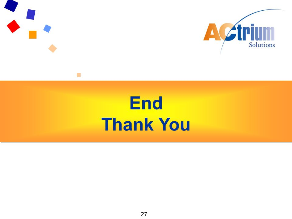 27 Key Findings Exhibitors End Thank You