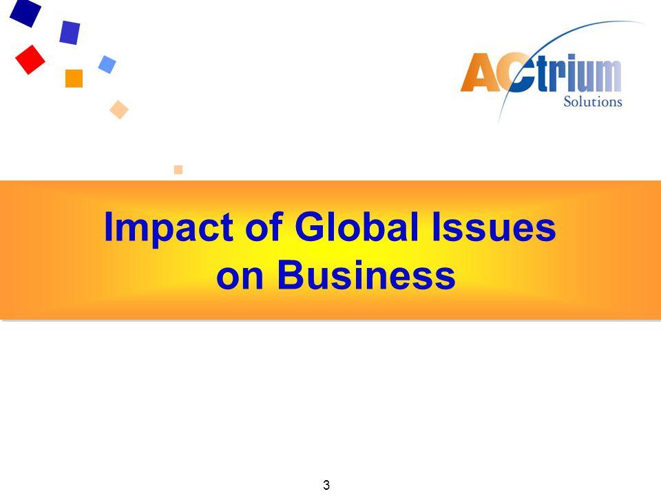 3 Key Findings Exhibitors Impact of Global Issues on Business Impact of Global Issues on Business