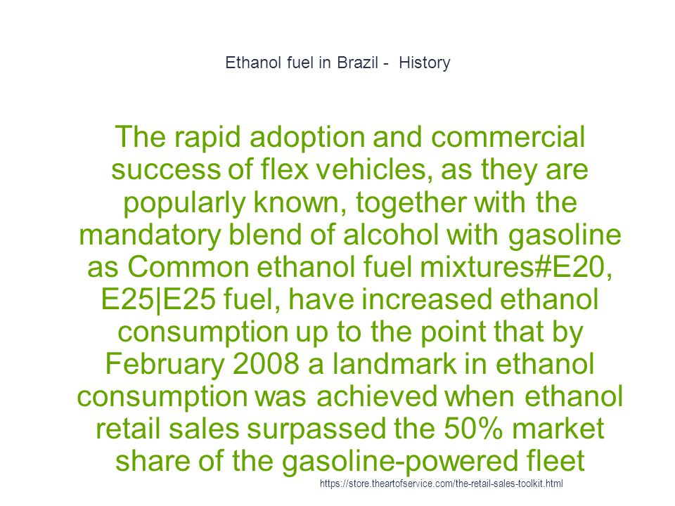 Ethanol fuel in Brazil - History 1 The rapid adoption and commercial success of flex vehicles, as they are popularly known, together with the mandator