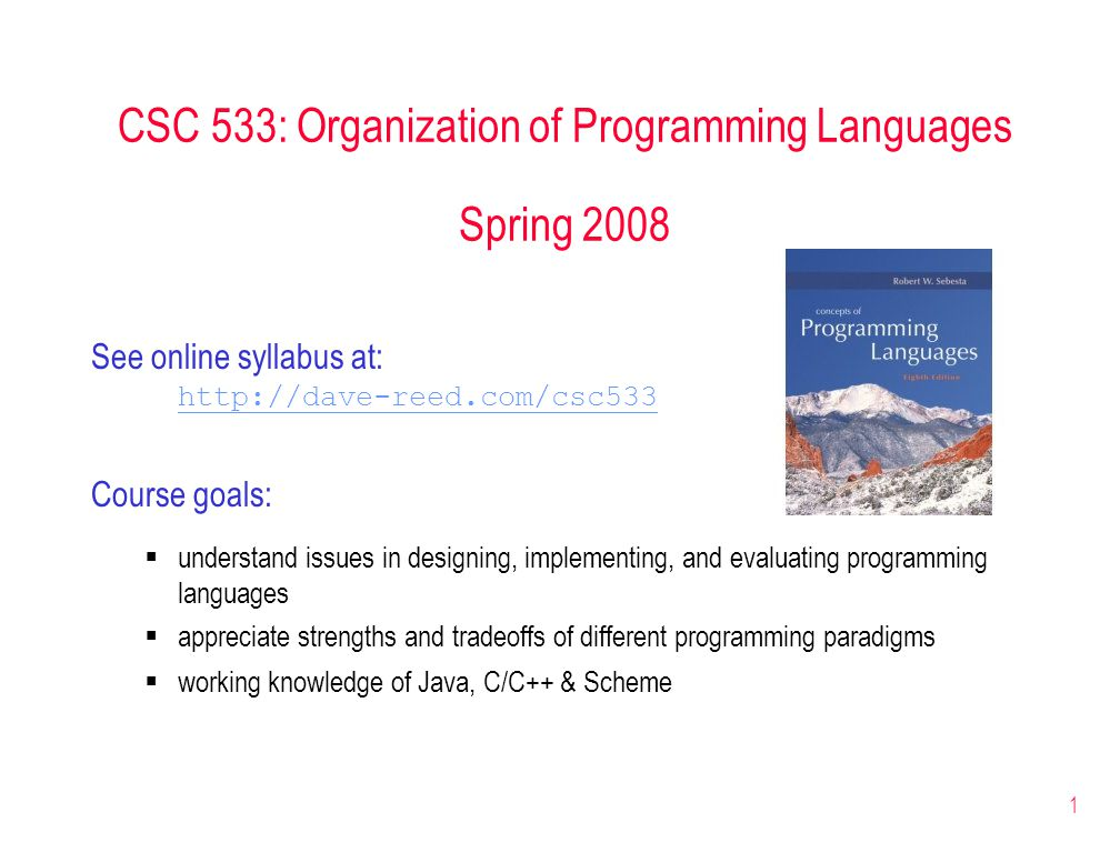 2 in theory, all programming languages are equivalent  compiled/interpreted into basic machine operations  Church-Turing thesis applies Why are there different programming languages.