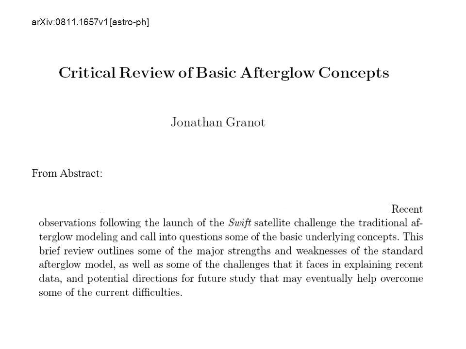 arXiv:0811.1657v1 [astro-ph] From Abstract: