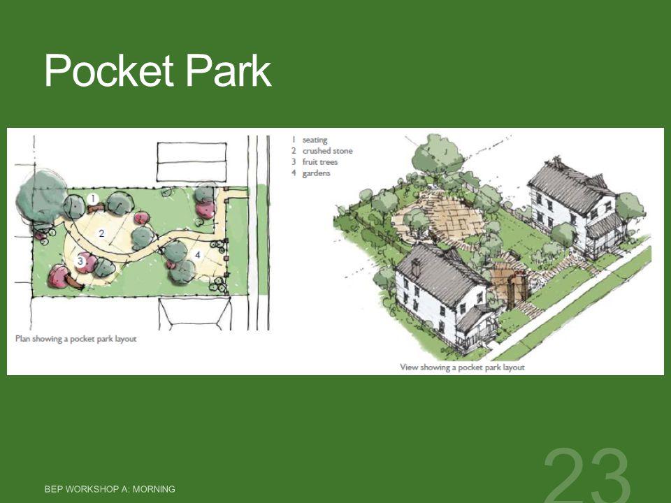 Pocket Park BEP WORKSHOP A: MORNING 23