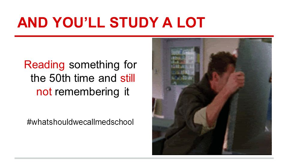 AND YOU'LL STUDY A LOT Reading something for the 50th time and still not remembering it #whatshouldwecallmedschool