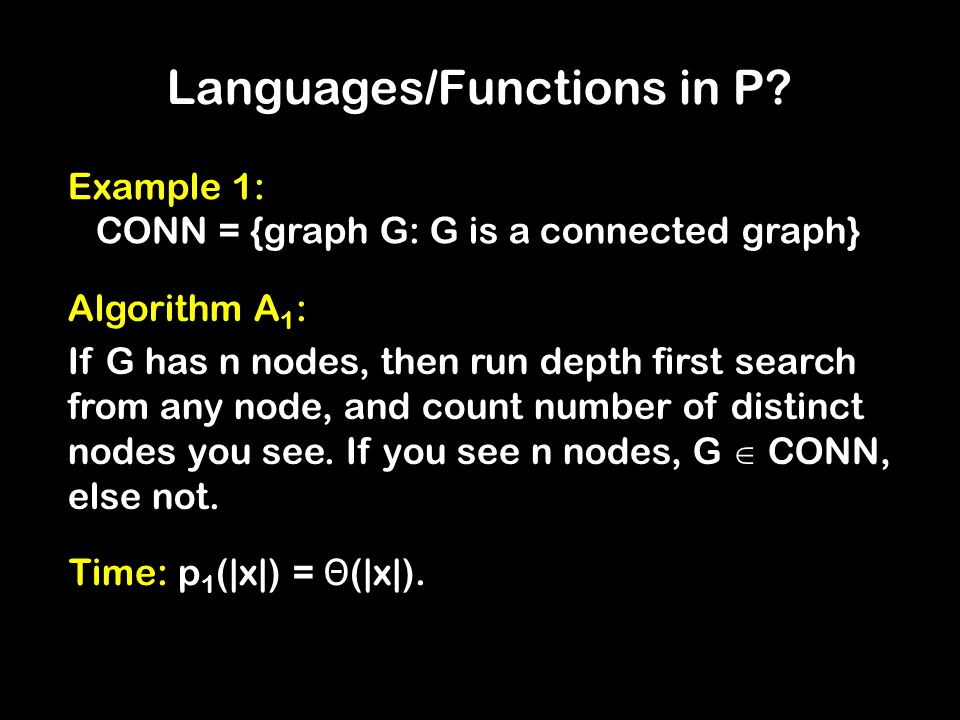 Languages/Functions in P.