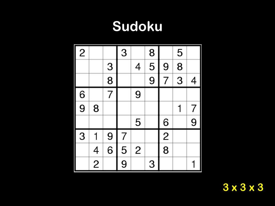 Sudoku 3 x 3 x 3