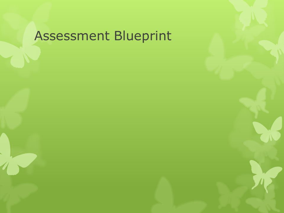 Assessment Blueprint