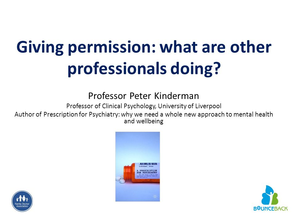 Giving permission: what are other professionals doing.