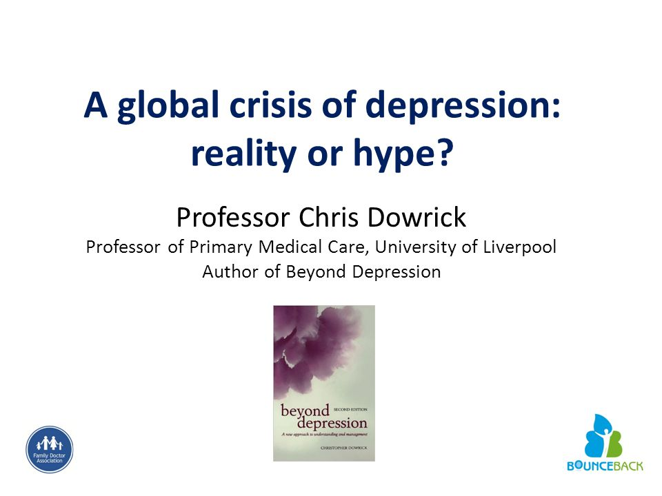 A global crisis of depression: reality or hype.