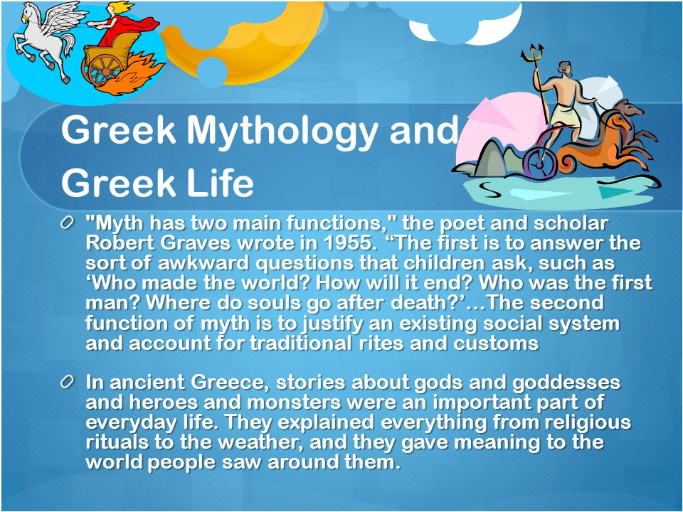 Your Greek Mythology Project You will write a 1-2 page Greek Myth inspired story.
