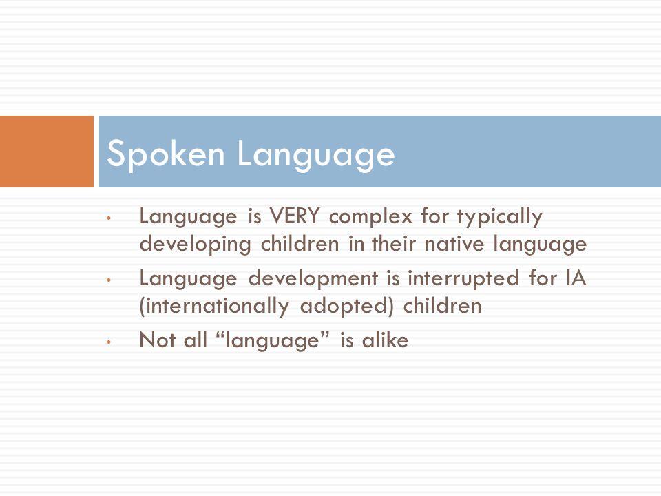 Language vs.