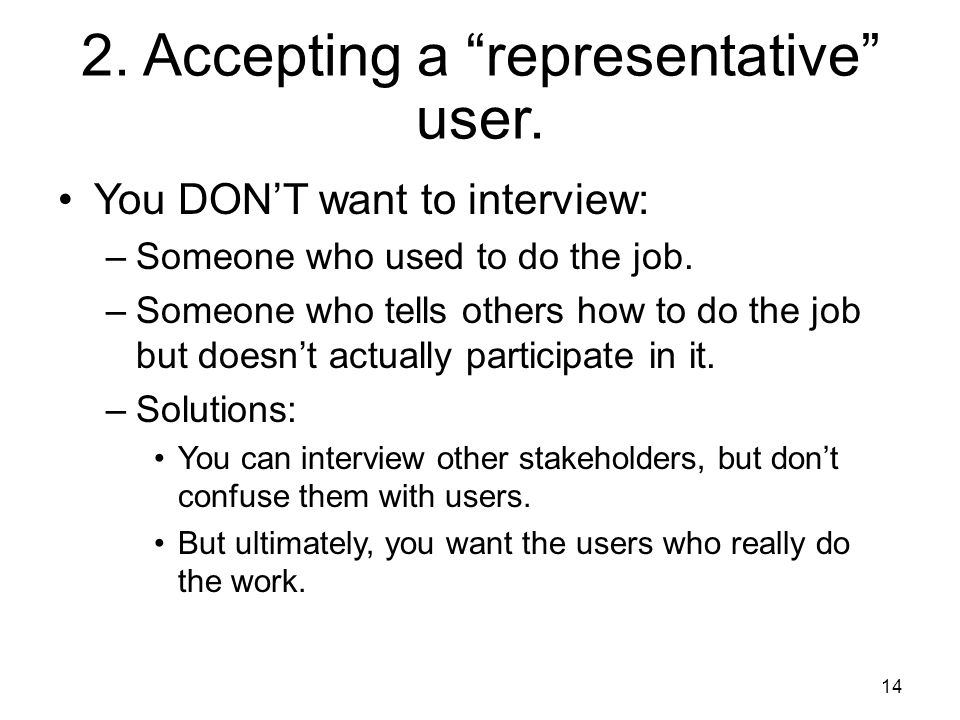 2. Accepting a representative user.