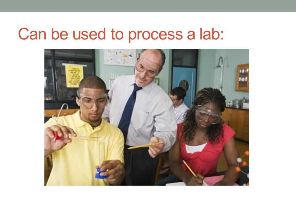 Can be used to process a lab: